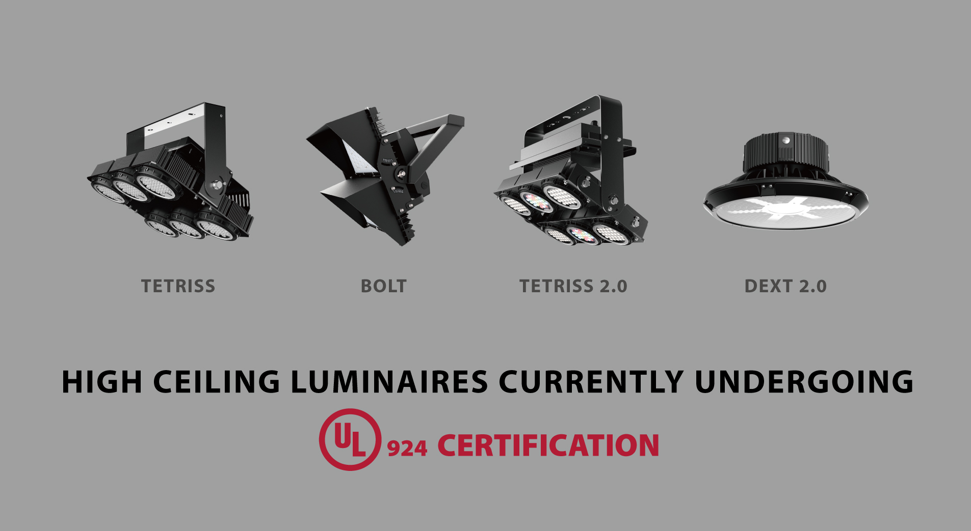 Meteor Lighting High Ceiling Luminaires are now UL 924 Certified