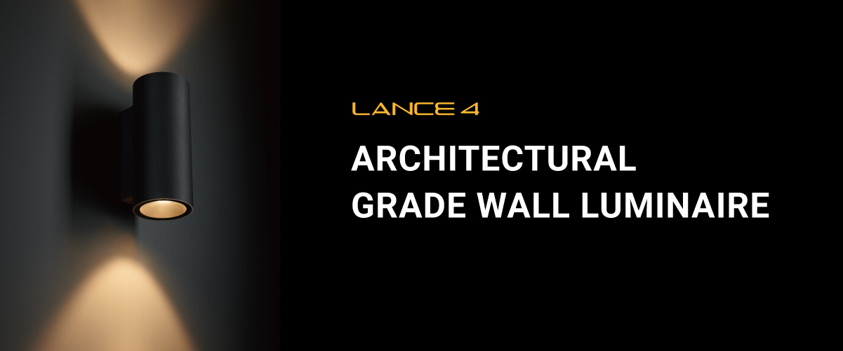 LANCE 4 Architectural Grade Wall Luminaire from Meteor Lighting